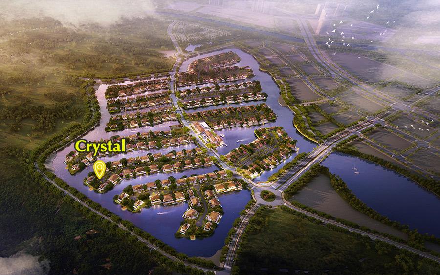 Vị trí Biệt thự đảo Ecopark Cystal